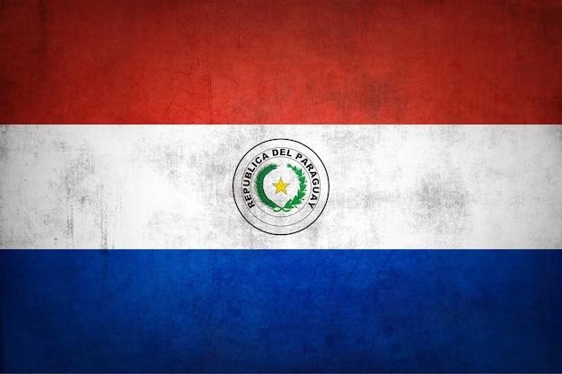 Paraguay-flagge mit grunge-textur.