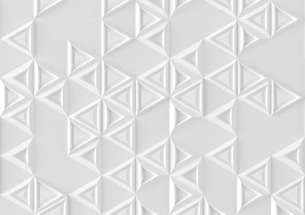 Parametrischer hintergrund basiert auf dreieckigem gitter mit unterschiedlichem muster der unterschiedlichen illustration des volumens 3d