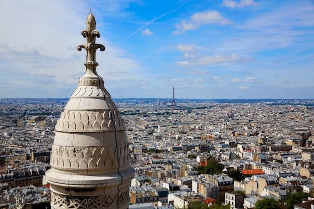 Paris skyline und sacre coeur basilique