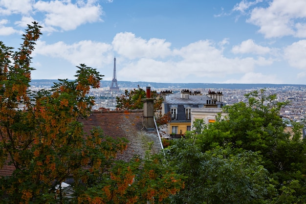 Paris-skylineantenne von montmartre