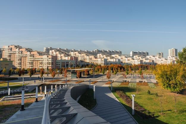Park auf khodynsky feld in moskau.