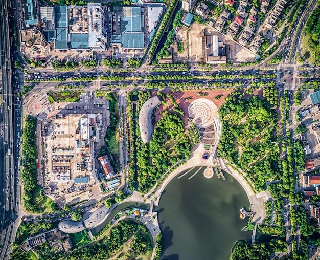 Park mit stadt