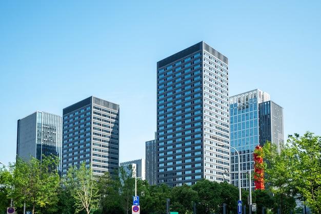 Park plaza und finanzzentrum bürogebäude in hangzhou, china