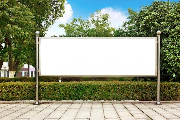 Park weiße plakatwand