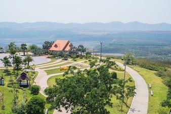 Parkblick hoch Lampang in Thailand
