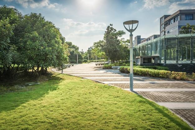 Parken sie in lujiazui finanzzentrum, shanghai, china