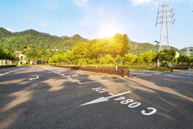 Parkplatz im park