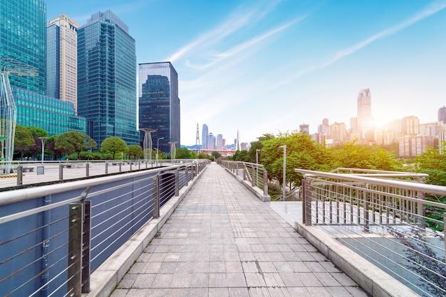 Parks und moderne architektur