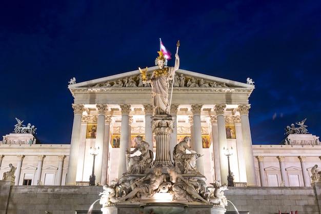 Parlament wien österreich nacht