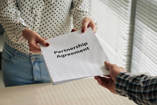 Partnerschaftsvertrag