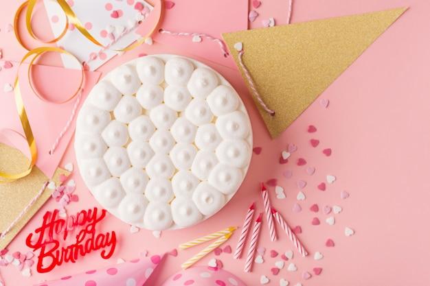 Party geburtstag hintergrund mit kuchen