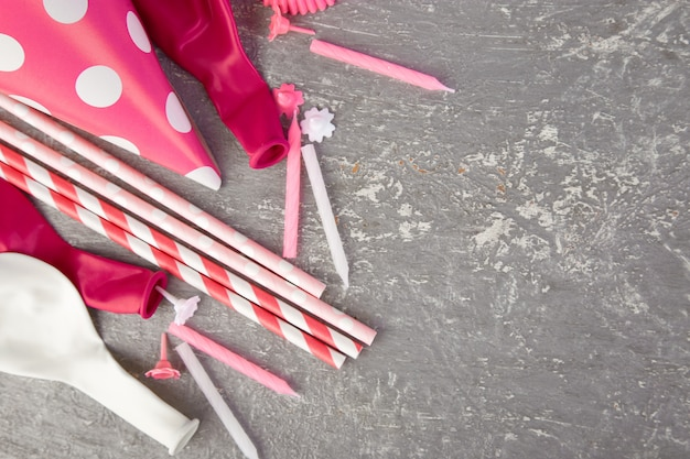 Party rosa papierhut.