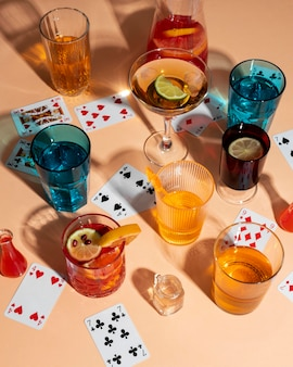 Party stillleben arrangement