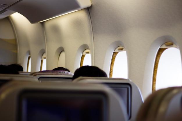 Passagiere auf einem flug