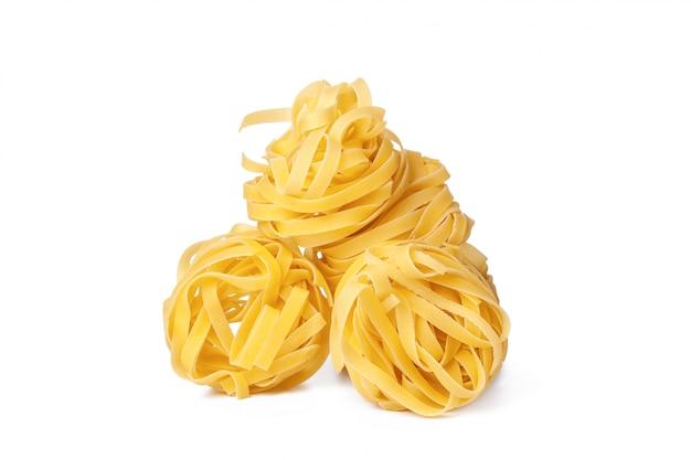 Pasta auf weiß