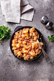 Pasta bolognese mit fleischsoße