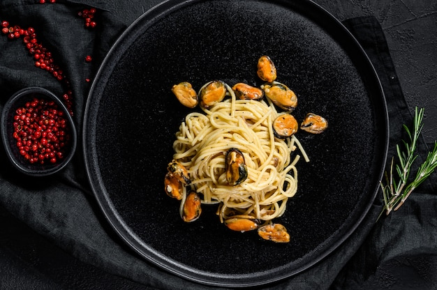 Pasta spaghetti mit muscheln