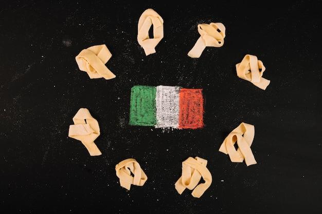 Pasta um italienische flagge