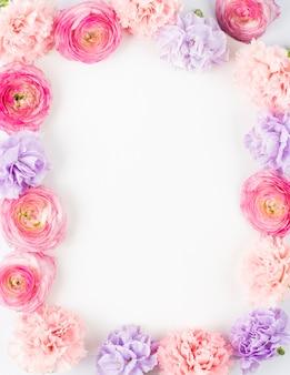 Pastel floral rechteckigen rahmen