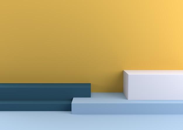 Pastell der minimalen geometrischen form, der wiedergabe 3d liebt.