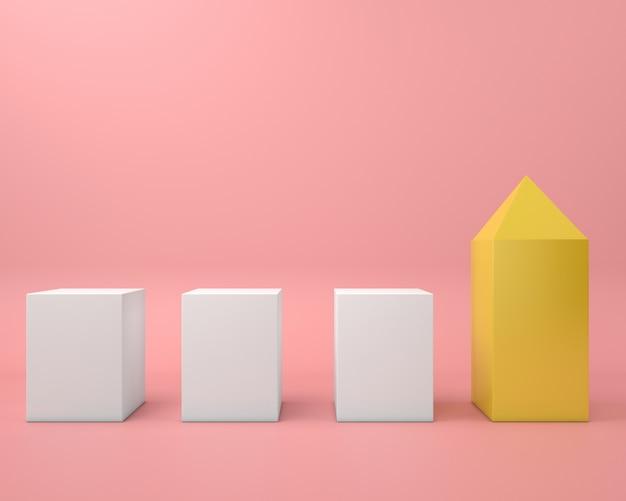 Pastellfarbe der abstrakten geometrischen form minimaler moderner stil