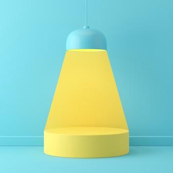 Pastellfarbe der abstrakten szene mit geometrieform-podiumhintergrund