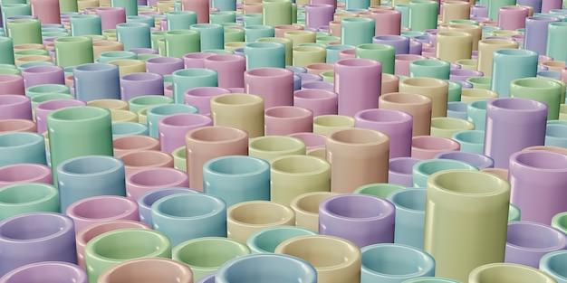 Pastellfarbe runder stockhintergrund kreisförmige struktur 3d illustration