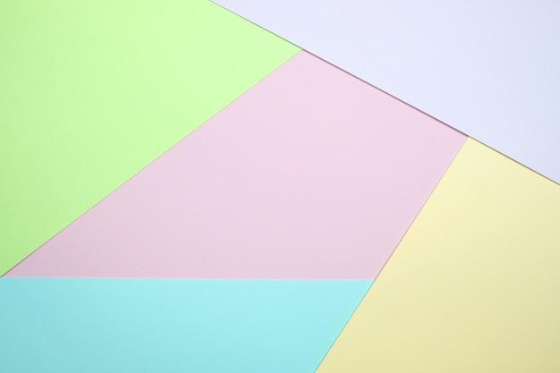 Pastellfarbenpapier draufsicht hintergrund