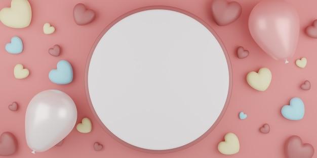 Pastellherzen des valentinstagskonzepts