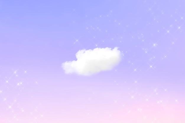 Pastellhintergrund des himmels im femininen stil