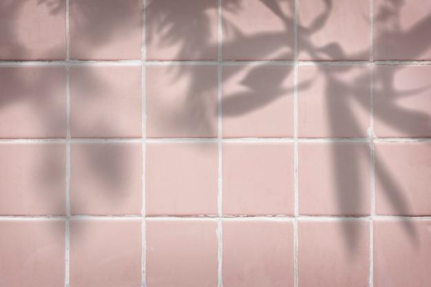 Pastellrosa fliesen strukturierter hintergrund