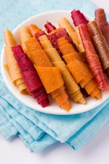 Pastille, fruchtrollen ohne zucker gesunde süßigkeiten