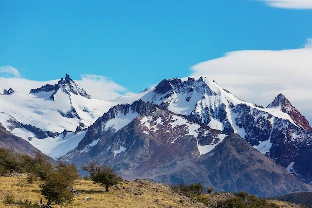 Patagonia landschaften in südargentinien. schöne naturlandschaften.