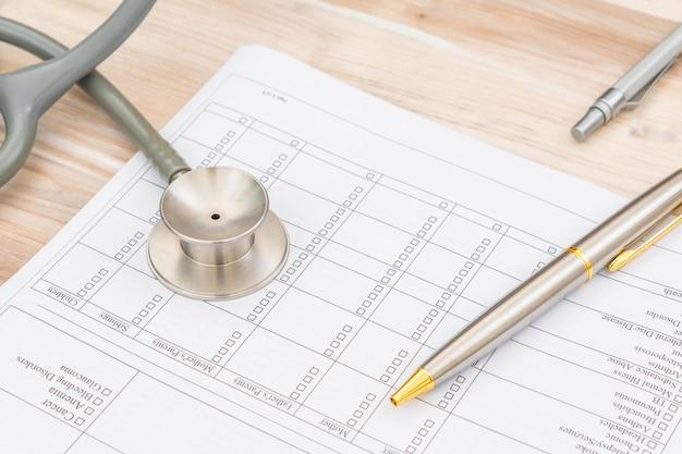 Patienten krankenhaus form forschungsdokument