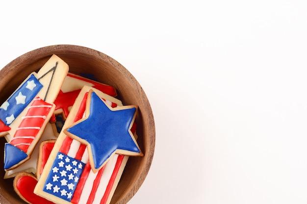 Patriotische kekse für den 4. juli
