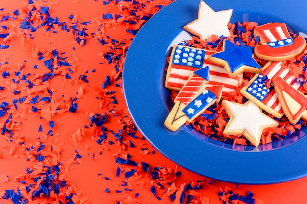 Patriotische plätzchen von amerika
