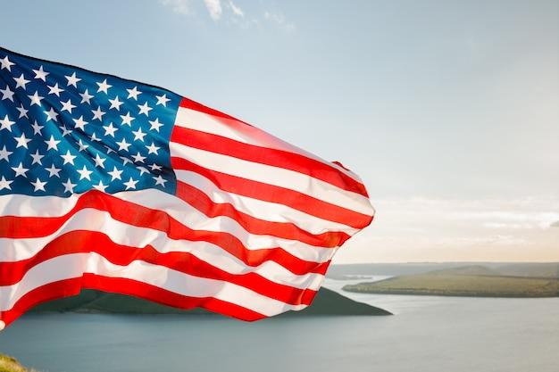 Patriotischer urlaub. 4. juli, unabhängigkeitstag.