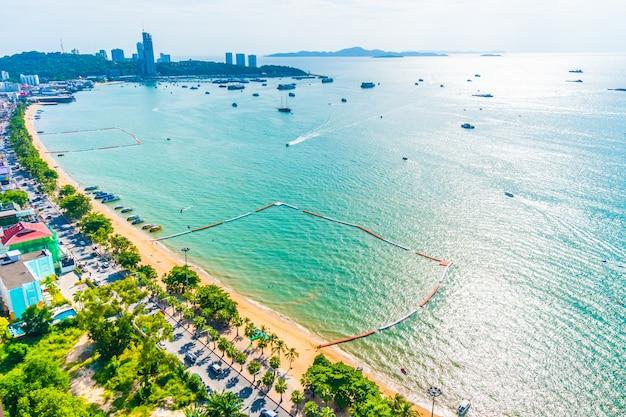 Pattaya stadt und die bucht