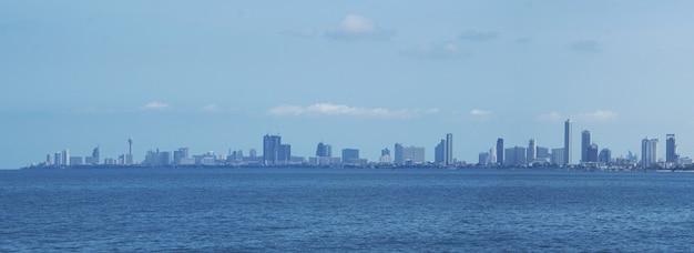 Pattaya-stadtbild in thailand.