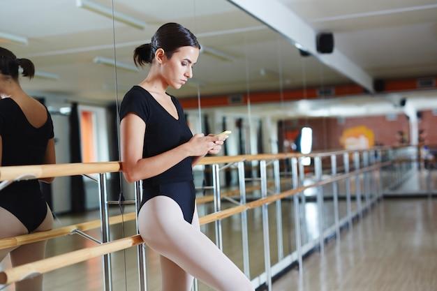 Pause beim balletttraining