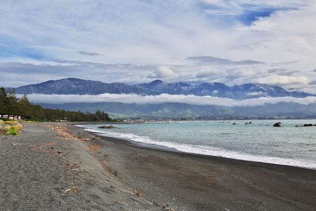 Pazifischer ozean in kaikoura, neuseeland
