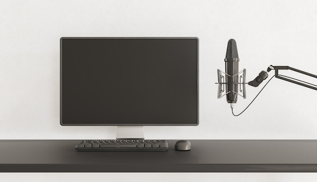 Pc-monitor mit mikrofon