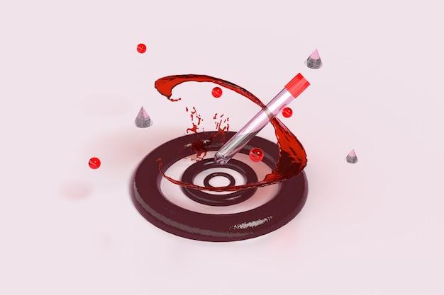 Pcr-test leeres reagenzglas für test. 3d-rendering.