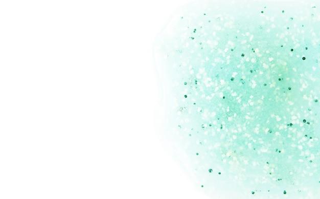 Peeling oder lotionsabstrich isoliert auf weiß draufsicht hautpflegekonzept bild