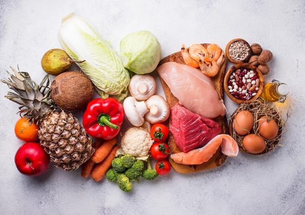 Pegan-diät. paläo- und vegane produkte