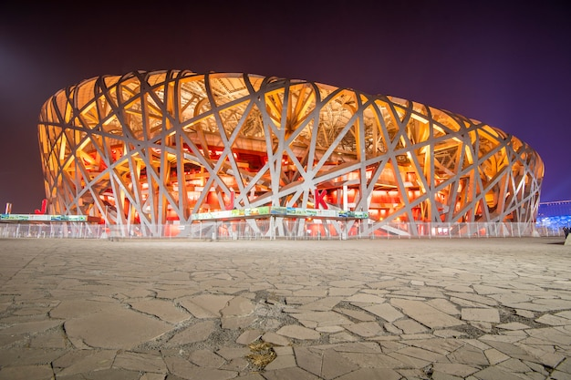 Peking olympiastadion in peking, china.