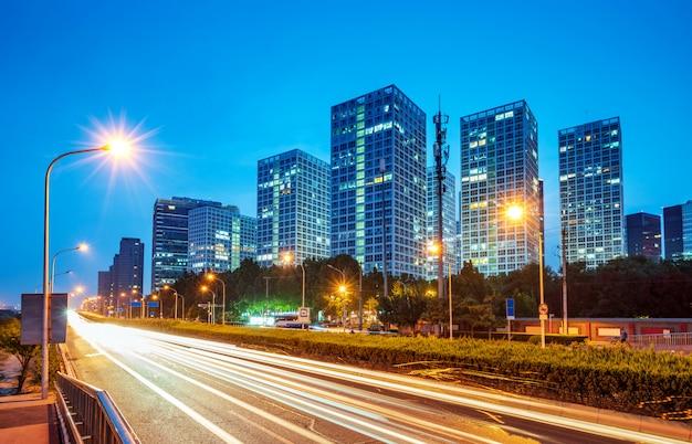 Peking stadt nachtszene