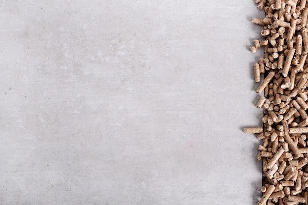 Pellets auf der oberfläche