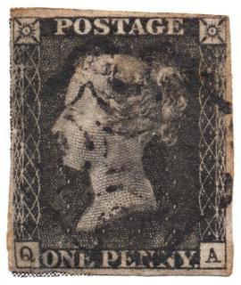 Penny black stempel