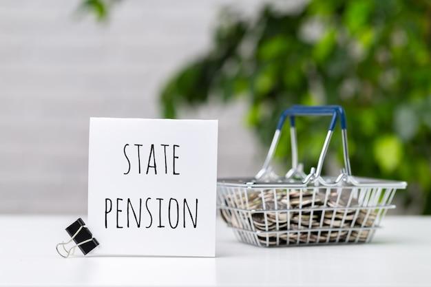 Pensionsfonds- und ruhestandsgeschäftskonzeptzusammensetzung